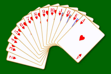 knave: The playing card in the suit of Hearts Illustration