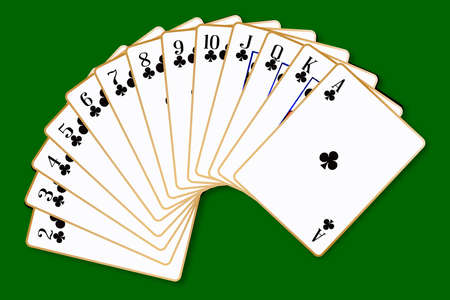 The playing card in the suit of Clubs