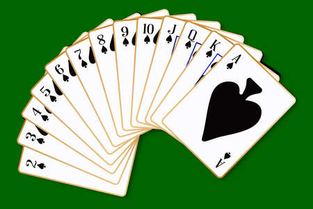 The playing card in the suit of Spades