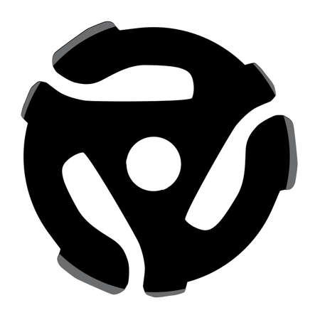 rpm: A black ytpical 45 rpm record spider