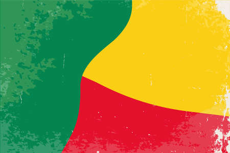 benin: The flag of the African country of Benin Illustration