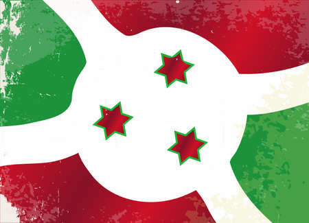 burundi: The flag of the African country of Burundi