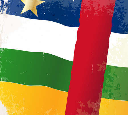 central african republic: The flag of the African country of the Central African Republic