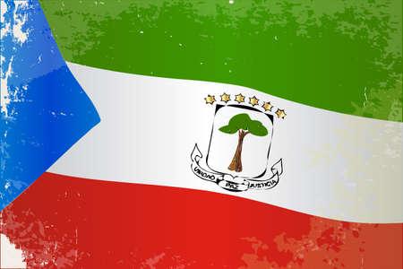 guinea equatoriale: La bandiera del paese africano della Guinea Equatoriale