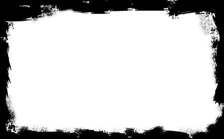 Une frontière grunge noir sur un fond blanc Vecteurs