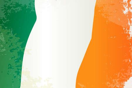 arts symbols: The flag of the EU country of Ireland Illustration