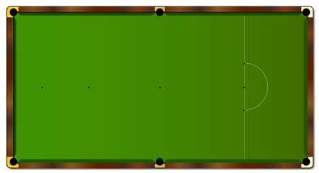 snooker table: A typical full size snooker table layout and markings