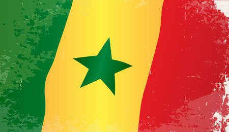 senegal: The flag of the African country Senegal Illustration