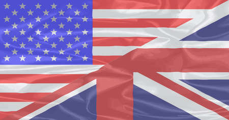 A union of the Stars and Stripes and the Union Jack on silk Vector