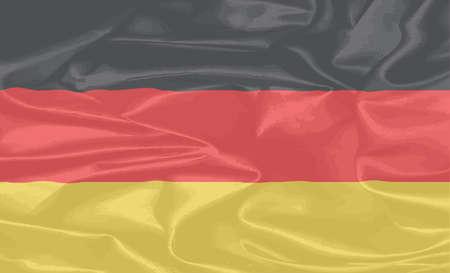 rouge et noir: Le drapeau de l'Allemagne en noir rouge et or Illustration