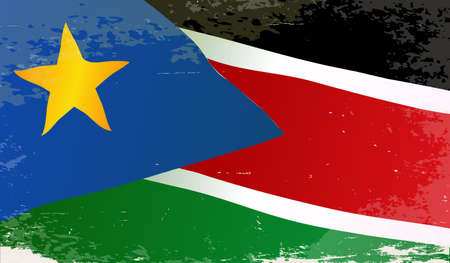 south sudan: The flag of the African country South Sudan Illustration
