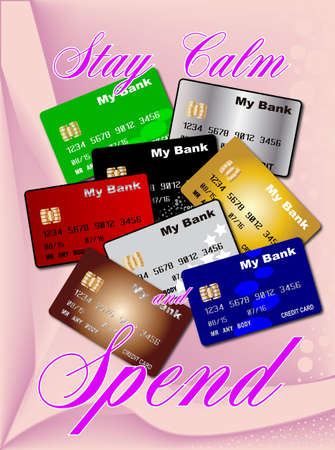 spend: A pink abstract background with the text Stay Calm And Spend