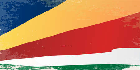 seychelles: The flag of the African country Seychelles Illustration