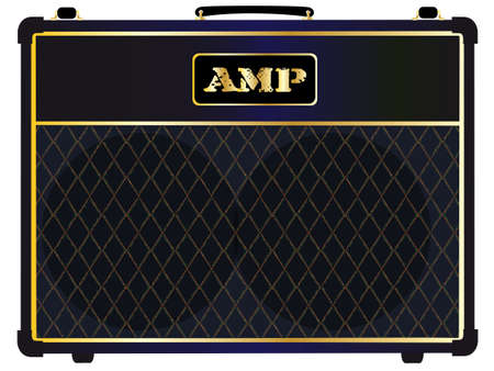 combo: A typical electric guitar combo valve amplifier