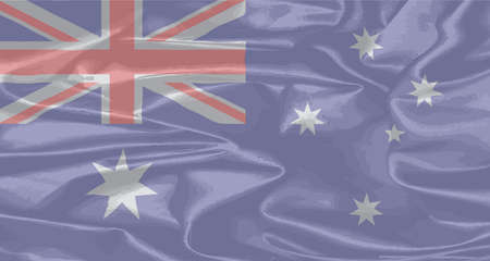 aussie: A silk flag of Australia with Union Jack and Stars