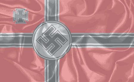 dictature: Le drapeau de soie nazi comme utilis� dans la guerre mondiale deux Illustration