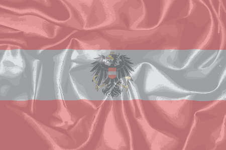 austrian: The Austrian flag with the coat of arms over layed