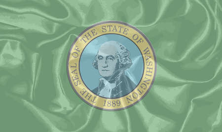 washington state: The flag of the state of Washington with the Washington State Seal motif