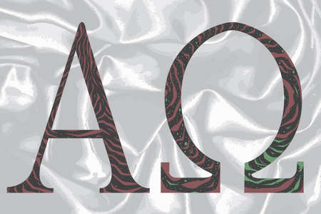 alpha: The Alpha - Omega symbols from the Christian religion.