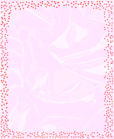 A star Christmas encrusted page border Illustration