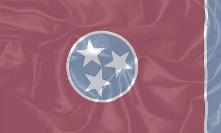 tennesse: La bandera de los EE.UU. el estado od Tennessee Vectores