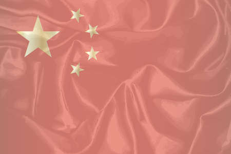 heavy effect: The Chinese flag with heavy grunge effect