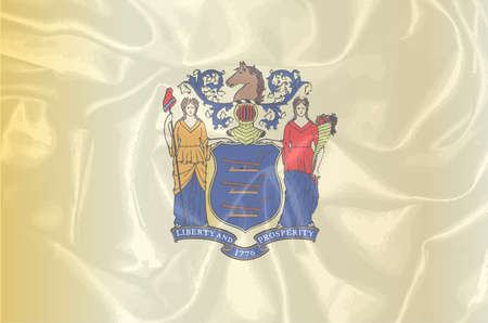 new jersey: The flag of the state of New Jersey Illustration