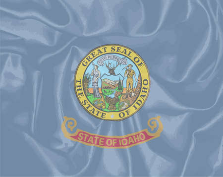 american history: The state flag of the USA state of Idaho