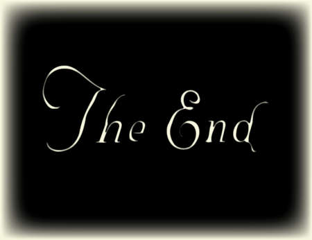 silent film: The End old silent movie final frame