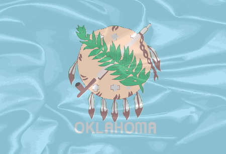 oklahoma: The flag of the state of Oklahoma Illustration