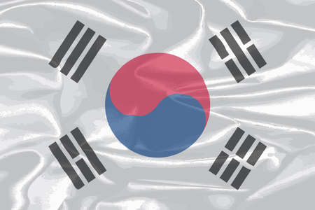 i nobody: The flag of South Korea with silk effect