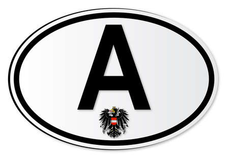 해외로: The A plate attached to vehicles from Austria travelling abroad