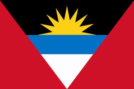 barbuda: The national flag of Antigua and Barbuda