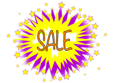 bombing: A cartoon style sale explosive motif over a white background Illustration