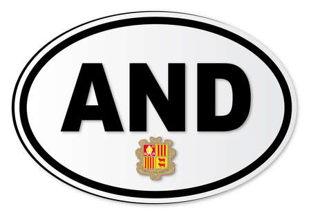 andorra: The AND plate attached to vehicles from Andorra travelling abroad
