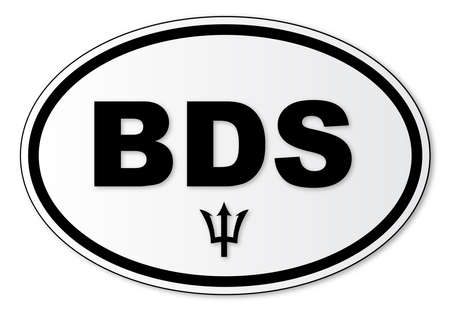 해외로: The BDS plate attached to vehicles from Barbados travelling abroad