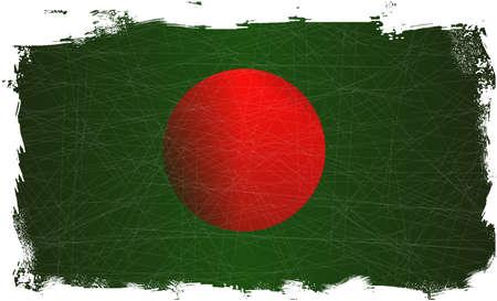 fleck: Bangladesh flag set on a heavy grunge background