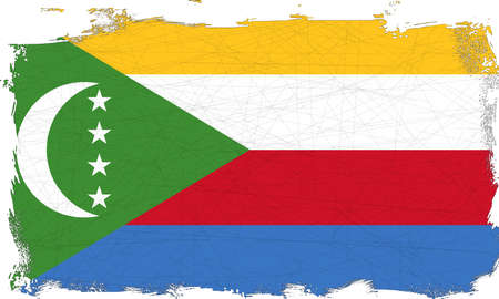 league: Flag of the Arab League country of Comoros