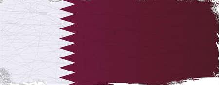 league: Flag of the Arab League country of Qatar
