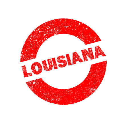 louisiana: A rubber ink stamp with the text Louisiana
