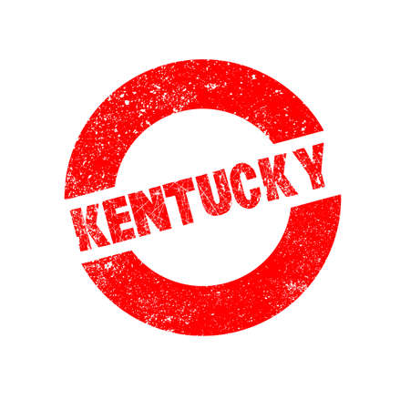 kentucky: A rubber ink stamp with the text Kentucky Illustration