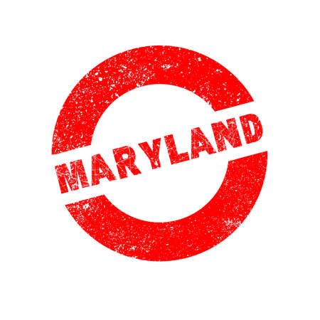 maryland: A rubber ink stamp with the text Maryland