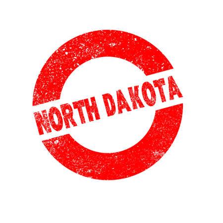 north dakota: A rubber ink stamp with the text North Dakota Illustration