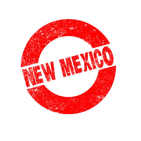 new mexico: A rubber ink stamp with the text New Mexico Illustration