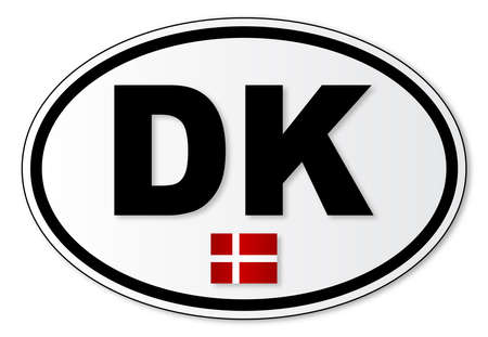 해외로: The DK plate attached to vehicles from Denmark when traveling abroad