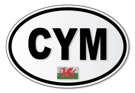 car plate: The CYM plate attached to vehicles from Wales travelling abroad