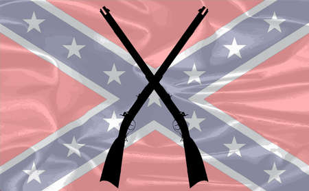 civil: The flag of the confederates during the American Civil War