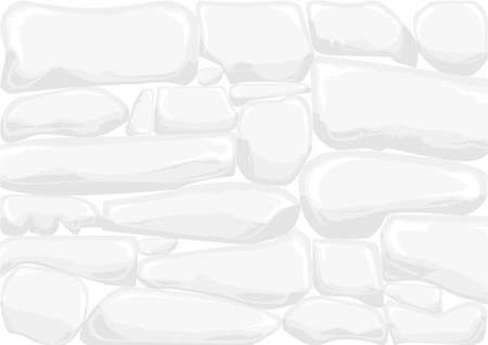 dry stone: A traditional pale grey dry stone wall. Illustration