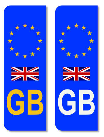 number plate: Number plate identifier  for GB on an EU plate
