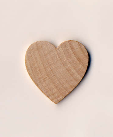 hearted: A wooden Valentine Day love heart shape